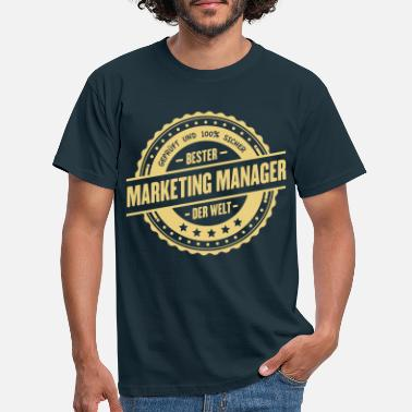 Manager Bester Marketing Manager - Männer T-Shirt