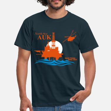 Oil Auk North Sea Oil Rig Platform Aberdeen - Men's T-Shirt