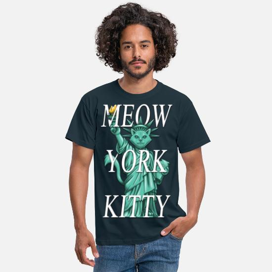 United States T-shirts - Meow York Kitty - T-shirt Homme marine