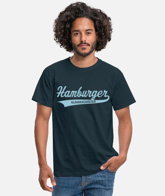 Dusseldorf T-Shirts - Hamburger Klookschieter - Men's T-Shirt navy