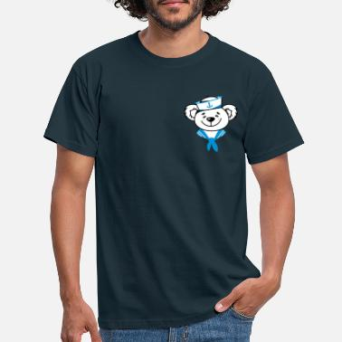 Sailor Bear with sailor hat and sailor scarf - Men's T-Shirt