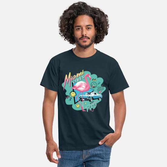 Cool T-shirts - SmileyWorld Miami Vibes - Mannen T-shirt navy