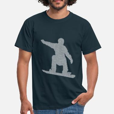 Snowboard Snowboarder gift from many snowboarders - Men's T-Shirt
