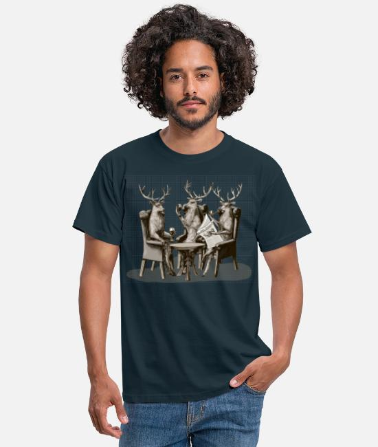 Cerfs T-shirts - Stag Party - T-shirt Homme marine