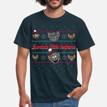 Tom und Jerry Ugly X-Mas Santa's little helpers - Männer T-Shirt