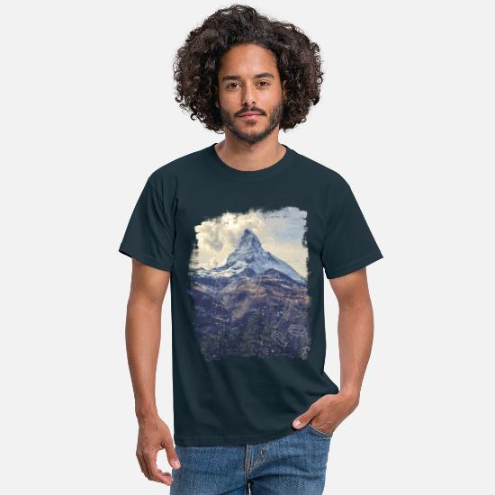 Mountains T-Shirts - Mountains & Diamonds - Men's T-Shirt navy
