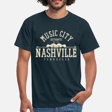 Nashville Nashville Music City Tennessee - Musique country - T-shirt Homme