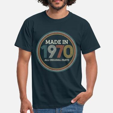 Birthday Made In 1970 - Vintage 50th Birthday Gift - Men's T-Shirt