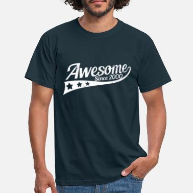 19th Födelsedag Awesome sedan 2000 - 19th Birthday Gift - T-shirt herr