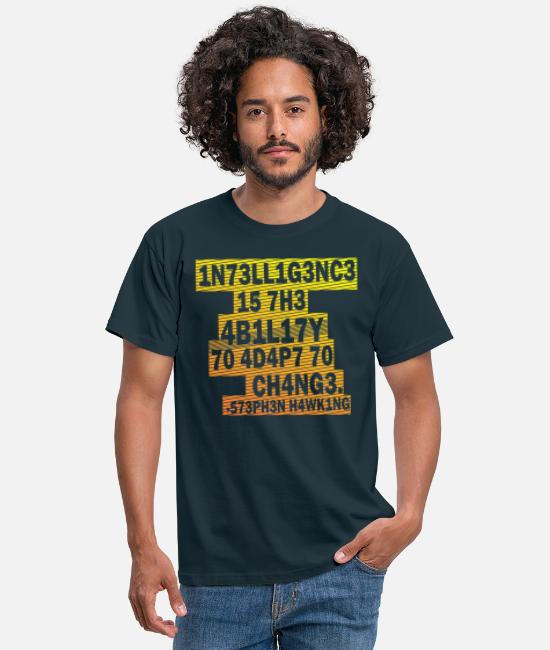 Ability T-Shirts - Stephen Hawking - Intelligence - Men's T-Shirt navy