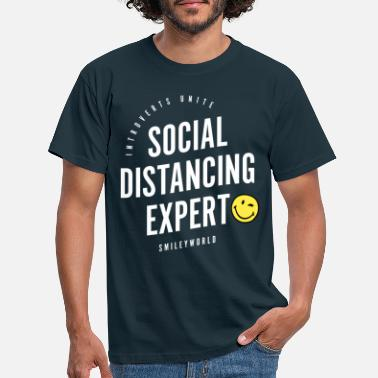Officialbrands SmileyWorld Social Distancing Expert - T-skjorte for menn