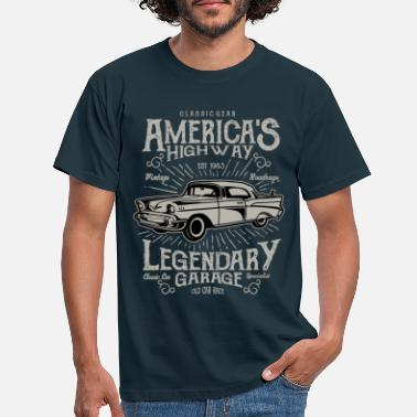 Bikes And Cars Collection America's Highway.png - Männer T-Shirt