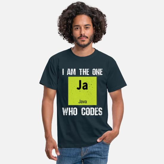 Java T-Shirts - Java programming - Men's T-Shirt navy
