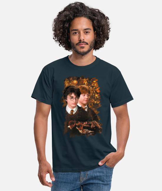 Movie T-paidat - Harry Potter Ugly Christmas Harry & Ron - Miesten t-paita laivasto sininen