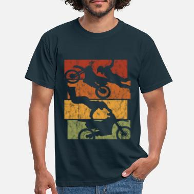 Bikes Motorcycle Retro Motorcross Stunt Enduro Motocross - Men's T-Shirt