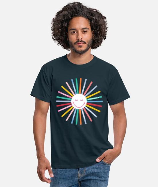 Corona T-shirts - SmileyWorld Positive Vibes - T-shirt herr marinblå