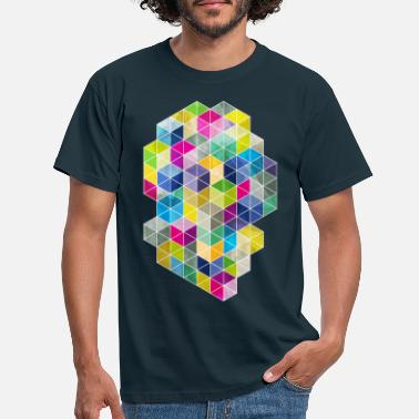 Geometrisch Dirty Polygon - Männer T-Shirt