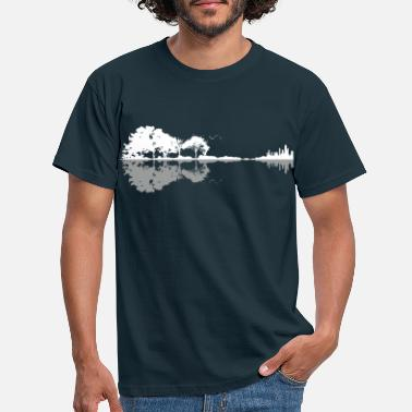 Musician Nature Reflection Guitar Shirt Band Musician Shirt - Men's T-Shirt