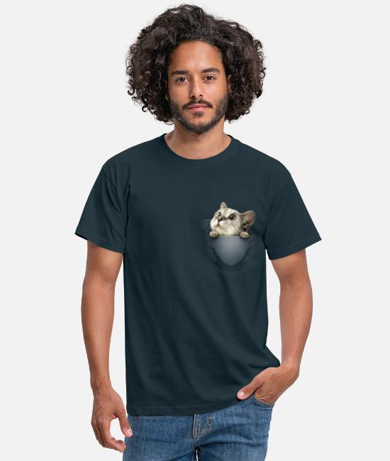 For Him T-shirts - POCKET CAT2015 - T-shirt herr marinblå