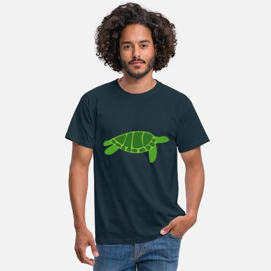 Turtle T-Shirts - sea turtle - Men's T-Shirt navy