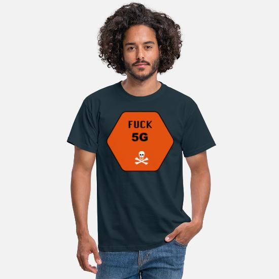 5g T-Shirts - Fuck 5G - Men's T-Shirt navy