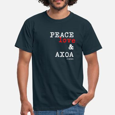 Peace Peace Love and Axoa t-shirt - T-shirt Homme