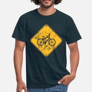 Scratch Scratch tears bicycle signage signboard note - Men's T-Shirt