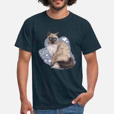 Cat Family - Männer T-Shirt