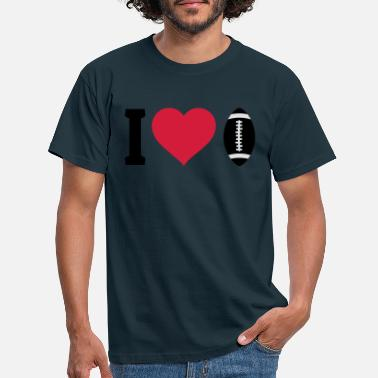 I Love Football I love football - Mannen T-shirt