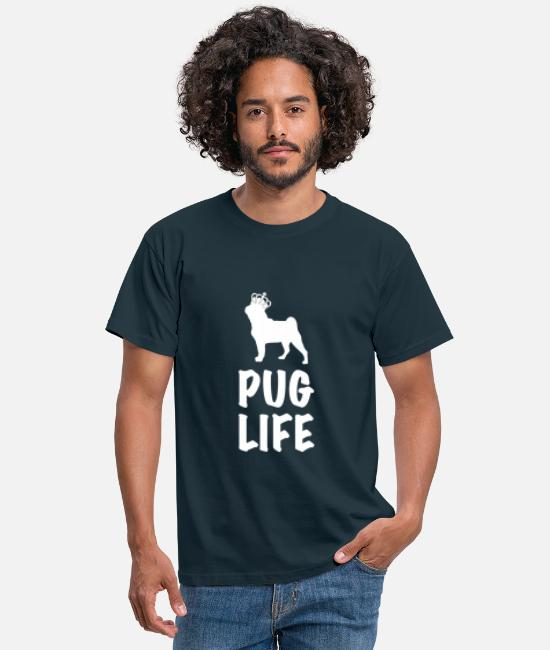 Quote T-Shirts - PUG LIFE - Men's T-Shirt navy