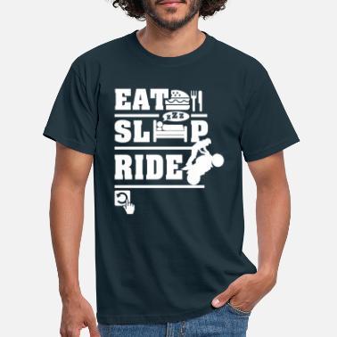 Motorcycle Eat Sleep Ride - Men's T-Shirt