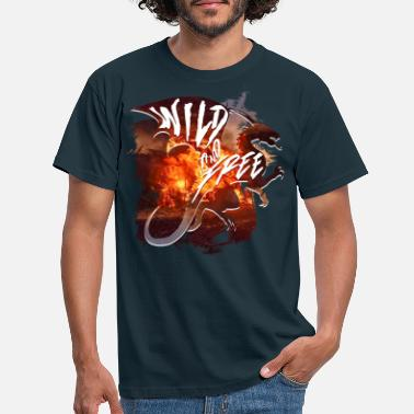 Wild Free Dragon - Men's T-Shirt