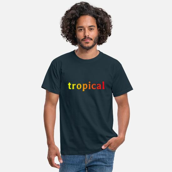 Travel T-Shirts - tropical - Men's T-Shirt navy
