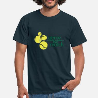 Set TENNIS: GAME SET MATCH - Mannen T-shirt