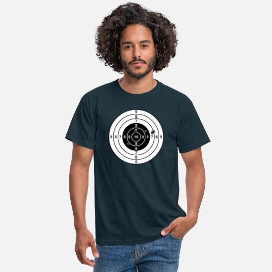 Funny T-Shirts - target - Men's T-Shirt navy