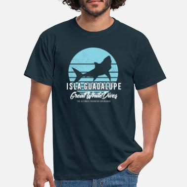 Great Isla Guadalupe Great White Shark Dives - Men's T-Shirt