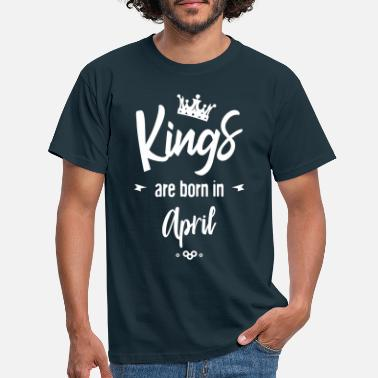 Kings are born in april-2 - Men's T-Shirt