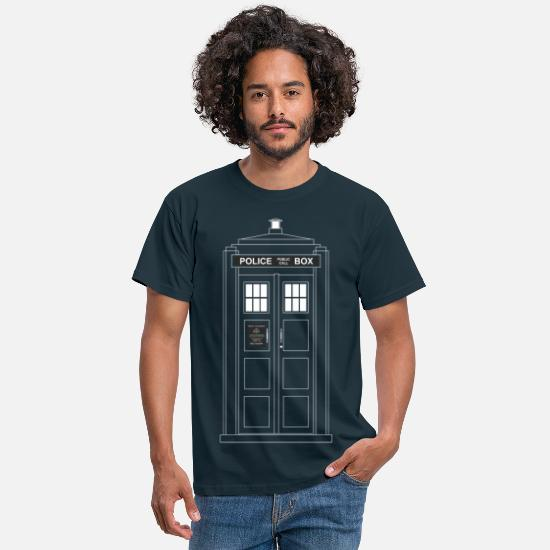 Geek T-Shirts - Police Call Box - Men's T-Shirt navy