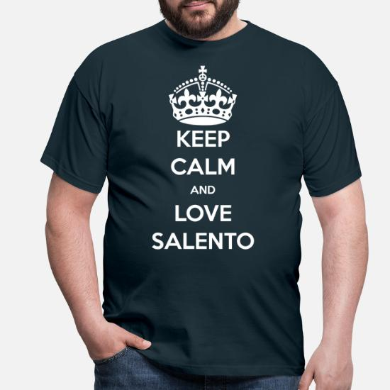 Maglietta Calm Love UomoSpreadshirt Salento Keep SzGUVMqp