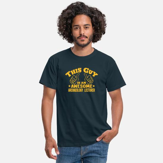 Ancient T-Shirts - this guy is an awesome archaeology lectu - Men's T-Shirt navy