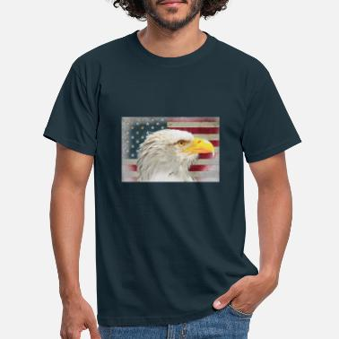 Avkopplande American Eagle Colored Sketch - T-shirt herr