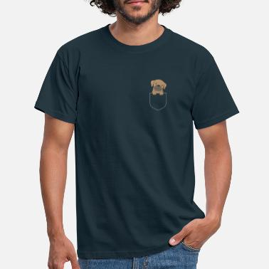 Dog - pug - breast pocket - Men's T-Shirt