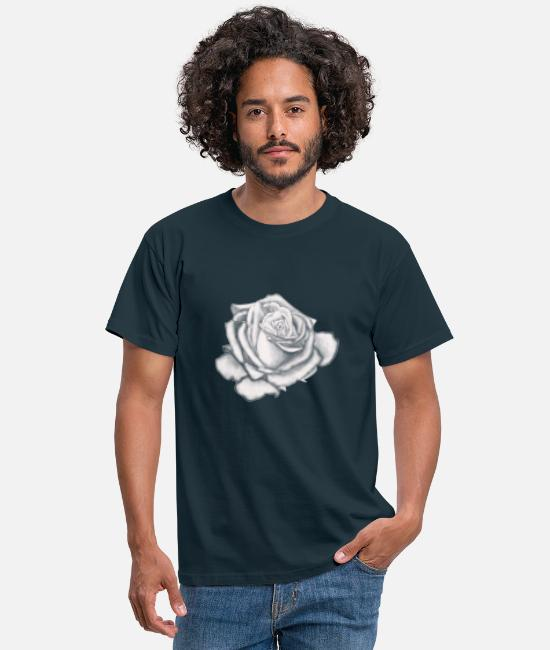 Uncle T-Shirts - White Rose - White Rose - gift idea for everyone - Men's T-Shirt navy