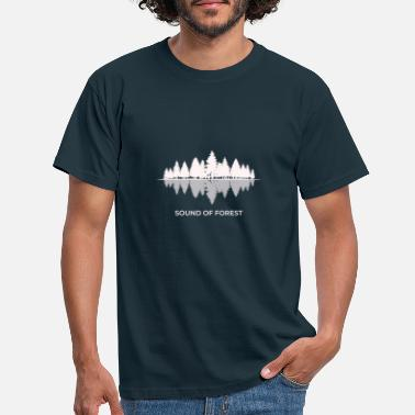 Idyll Sound of forest forest nature shadow lake mirror - Men's T-Shirt
