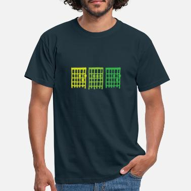 DAD Guitar chords, father, rock star, green - Men's T-Shirt