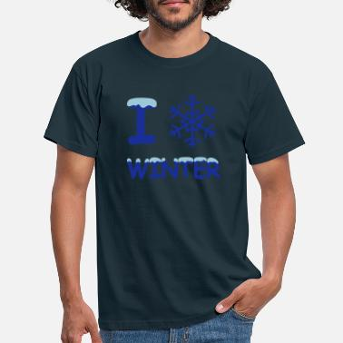 I Love Winter I love winter snowflake - Men's T-Shirt