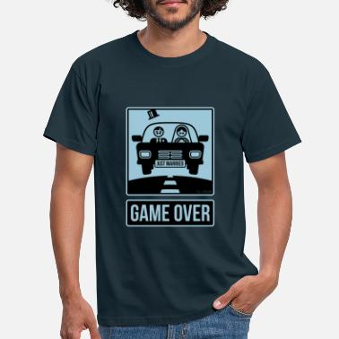 Hochzeit Just Married – Game Over (2C) - Männer T-Shirt