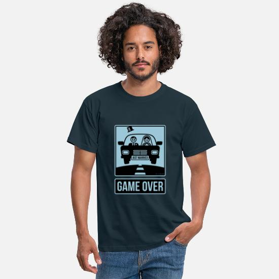 Auto T-Shirts - Just Married – Game Over (2C) - Männer T-Shirt Navy