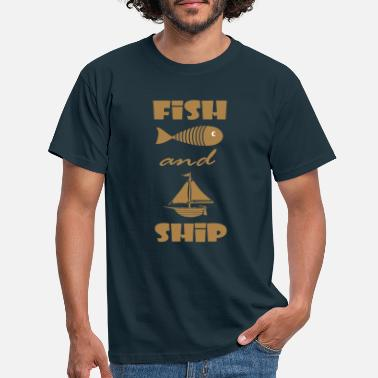 FISH AND SHIP - T-shirt Homme