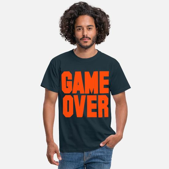 Over T-Shirts - Game over - stag and hen - bachelor - Men's T-Shirt navy